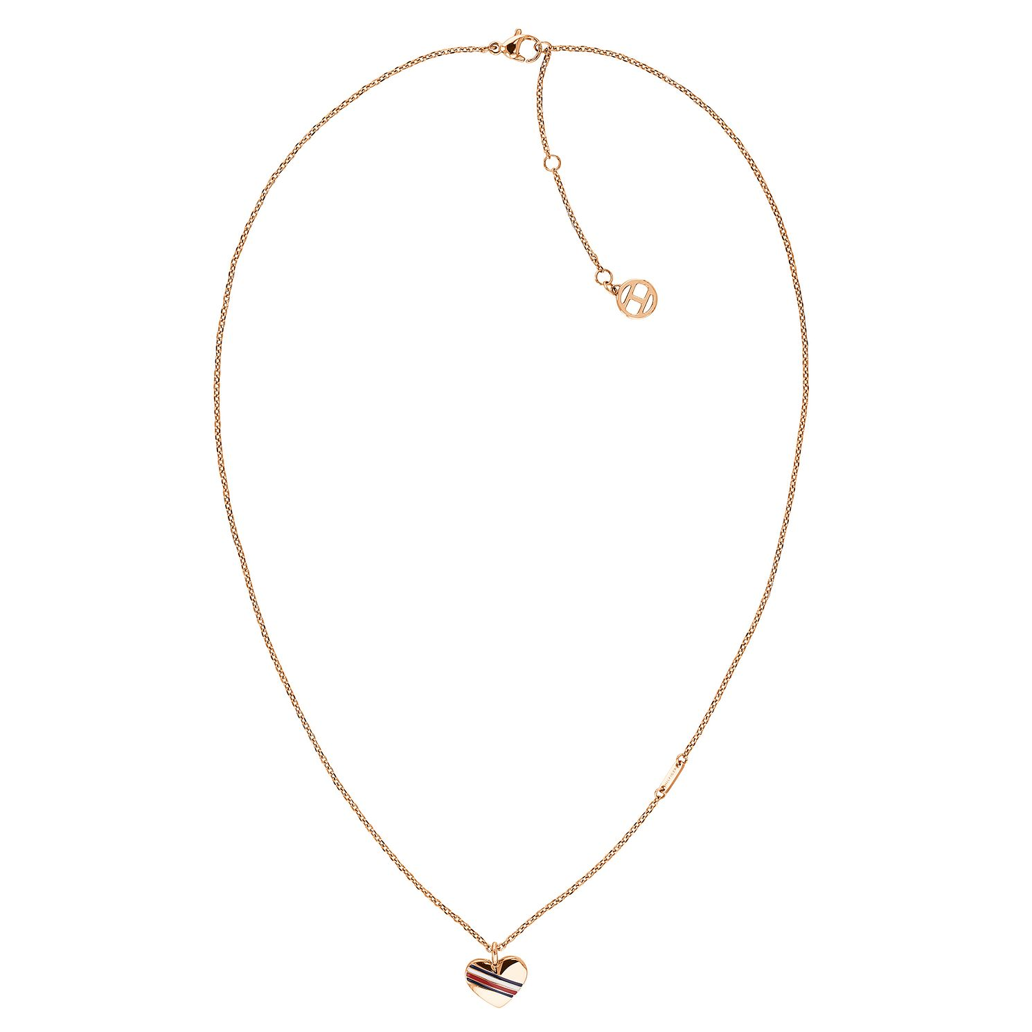 Tommy Hilfiger Ladies' Rose Gold Heart Chain Necklace - Product number 3424111