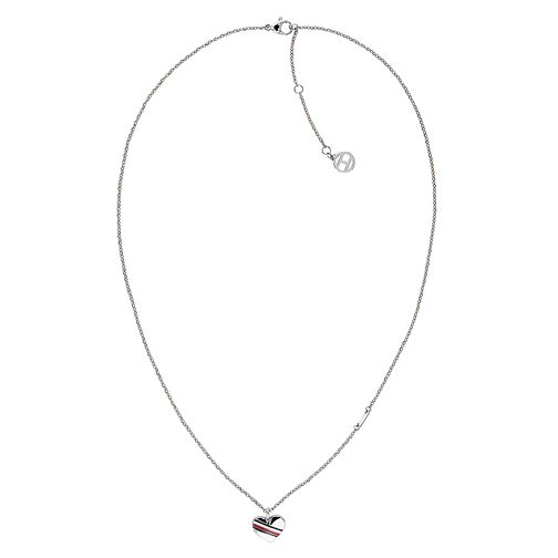 Tommy Hilfiger Ladies' Silver Heart Chain Necklace - Product number 3424138