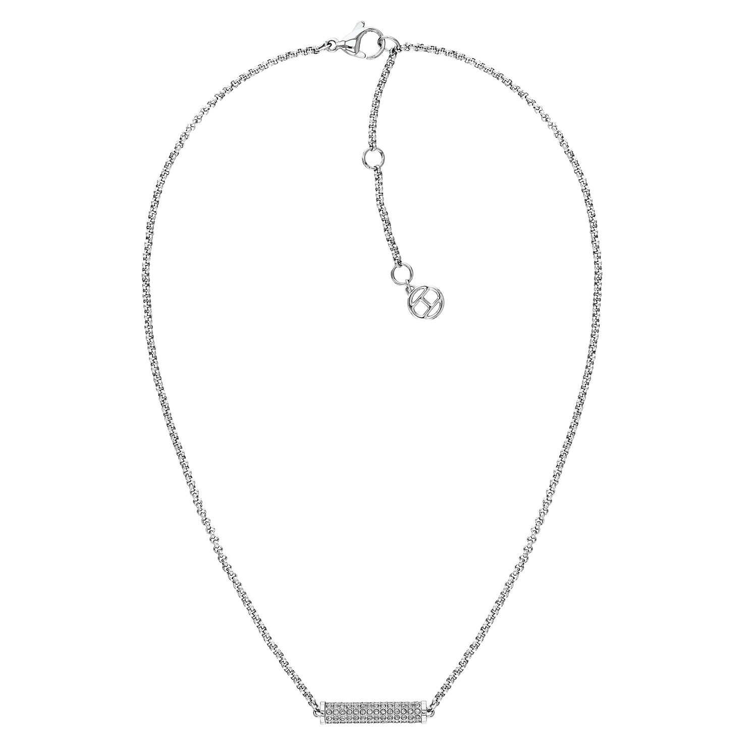 Tommy Hilfiger Silver Tone Crystal Charm Necklace - Product number 3424146