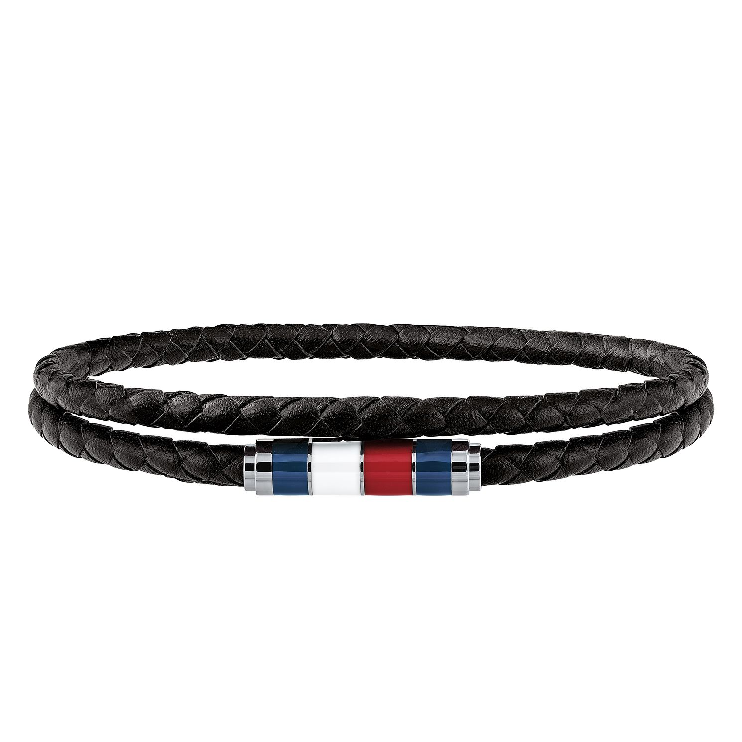 Tommy Hilfiger Men's Black Leather Bracelet - Product number 3424227