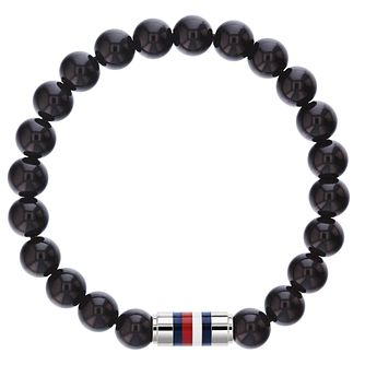 Tommy Hilfiger Men's Black Onyx Bead Bracelet - Product number 3424243
