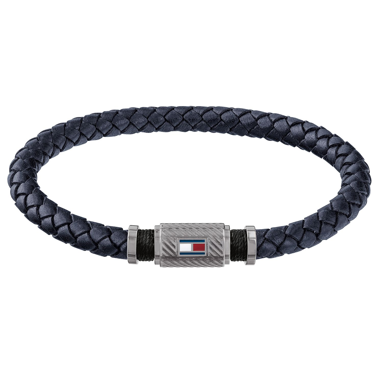 Tommy Hilfiger Navy Leather Plait Bracelet - Product number 3424251