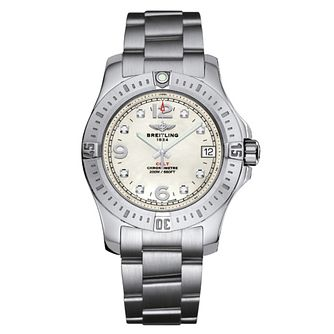 Breitling Colt 36 ladies' mother of pearl bracelet watch - Product number 3427099