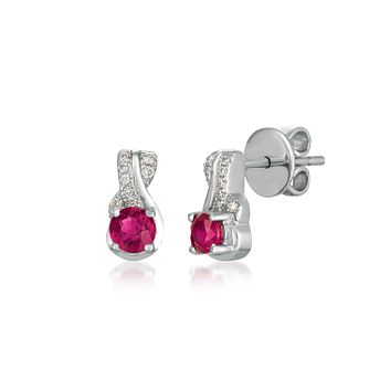 Le Vian 14ct Vanilla Gold Passion Ruby & Diamond Earrings - Product number 3431088