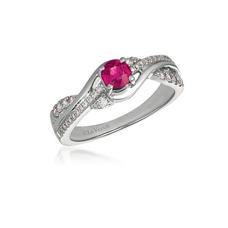 Le Vian 14ct Vanilla Gold Passion Ruby & Diamond Ring - Product number 3431118