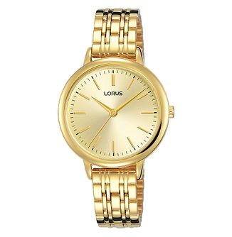 Lorus Ladies' Yellow Gold Tone Bracelet Watch - Product number 3432343