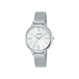 Lorus Ladies' Crystal Dial Stainless Steel Bracelet Watch - Product number 3432378
