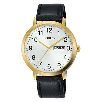 Lorus Men's Black Leather Strap Watch - Product number 3432432