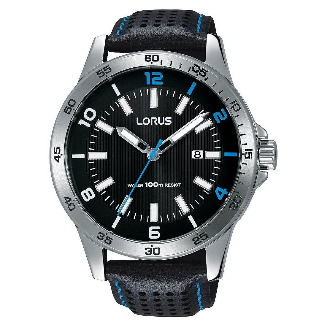 Lorus Men's Black Leather Strap Watch - Product number 3432467