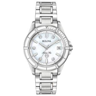 Bulova Marine Star Ladies' Stainless Steel Bracelet Watch - Product number 3432513