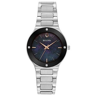 Bulova Modern Ladies' Stainless Steel Bracelet Watch - Product number 3432521