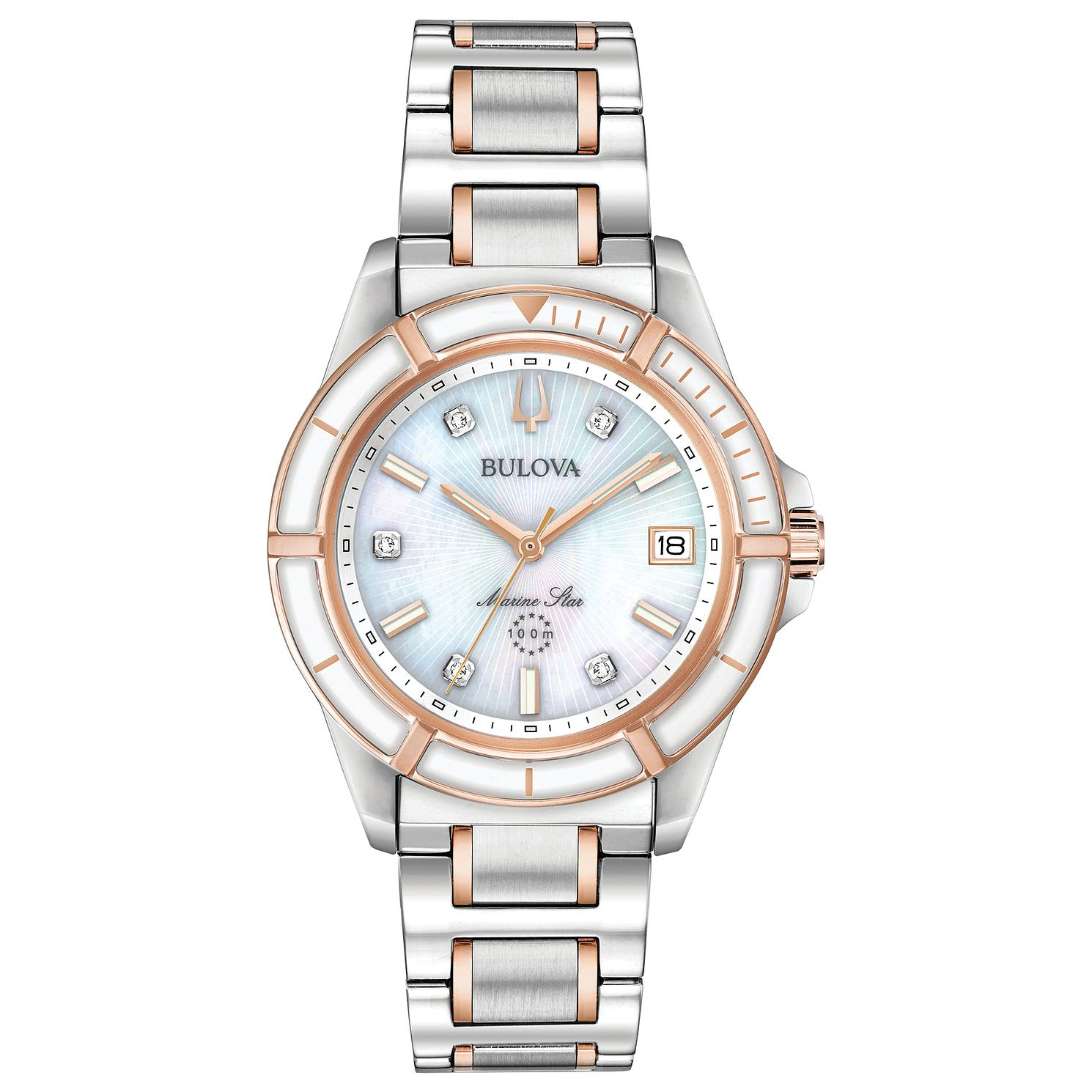 Bulova Marine Star Ladies' Two Tone Bracelet Watch - Product number 3432548