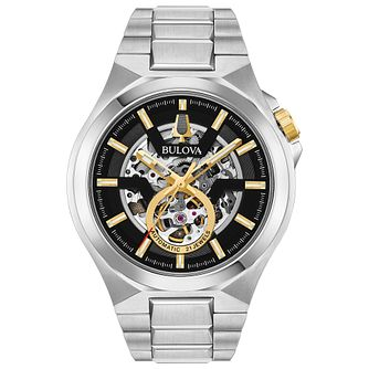 Bulova Classic Maquina Men's Stainless Steel Bracelet Watch - Product number 3432599