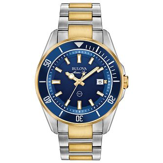 Bulova Marine Star Men's Two Tone Bracelet Watch - Product number 3432610