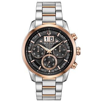 Bulova Sutton Men's Two Tone Bracelet Watch - Product number 3432661