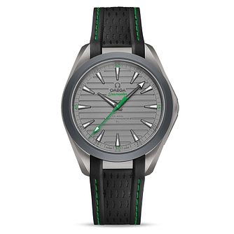Omega Aqua Terra Titanium Black Green Rubber Strap Watch - Product number 3434257