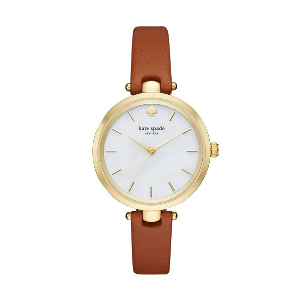 Kate Spade Holland Ladies' Yellow Gold Tone Strap Watch - Product number 3436802