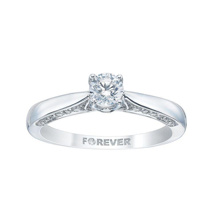 18ct White Gold 2 5 Carat Forever Diamond Ring