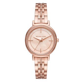 Michael Kors Cinthia Ladies' Rose Gold Tone Bracelet Watch - Product number 3445828