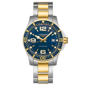 Longines' HydroConquest Men's Two Colour Bracelet Watch - Product number 3448142