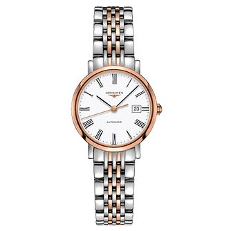 Longines Elegant Ladies' Two Colour Bracelet Watch - Product number 3448231