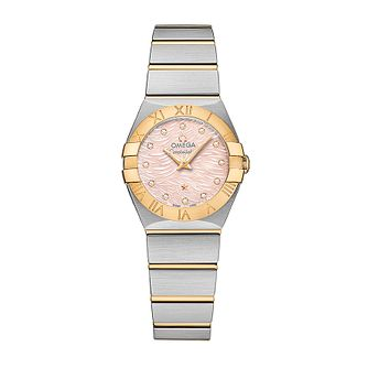 Omega Constellation Quartz ladies' two colour bracelet watch - Product number 3450015