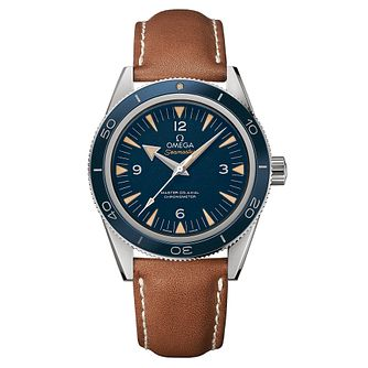 Omega Seamaster 300 Men's Brown Leather Strap Watch - Product number 3450732
