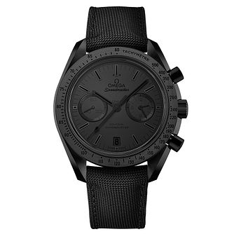 Omega Speedmaster Moonwatch Black Ceramic Fabric Strap Watch - Product number 3450805