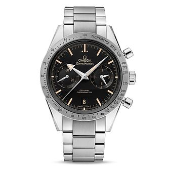 Omega Speedmaster Qx57 Men's Stainless Steel Bracelet Watch - Product number 3450953