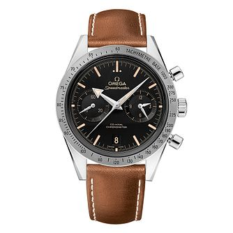 Omega Speedmaster '57 Men's Brown Leather Strap Watch - Product number 3450961