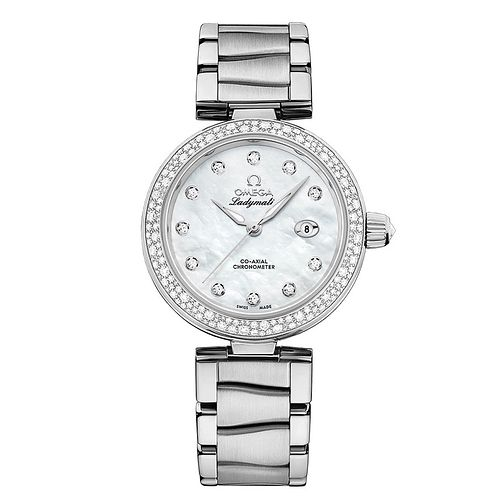 Omega De Ville Ladymatic Ladies' Diamond Bracelet Watch - Product number 3451046