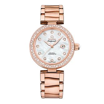 Omega Ladymatic Ladies' Rose Gold Stone Set Bracelet Watch - Product number 3451054