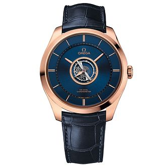 Omega DeVille Tourbillon Men's 18ct Rose Gold Strap Watch - Product number 3451127