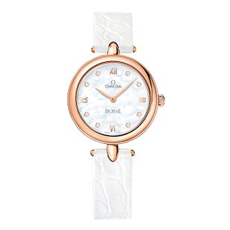 Omega De Ville Prestige Ladies' Diamond White Strap Watch - Product number 3451186