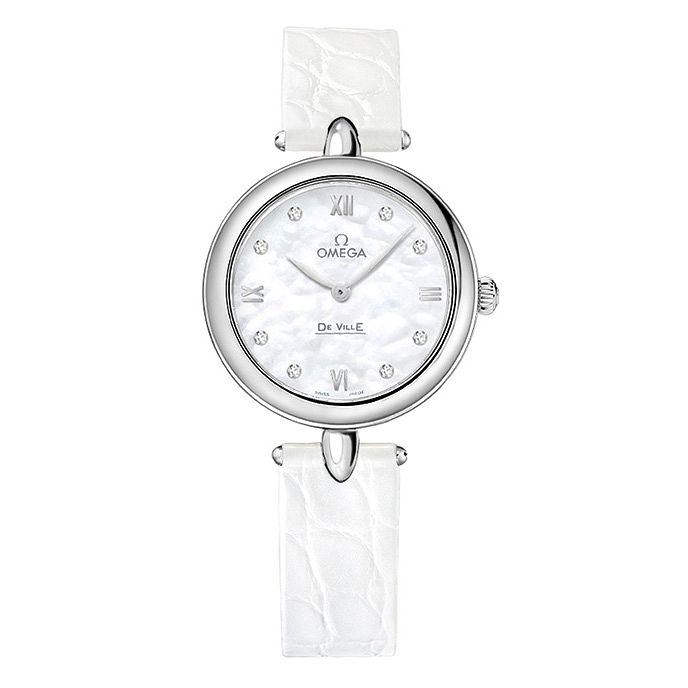 Omega De Ville Prestige Ladies' Diamond White Strap Watch - Product number 3451208