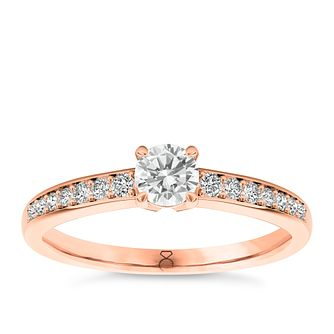 The Diamond Story 18ct rose gold 1/2ct carat diamond ring - Product number 3453995