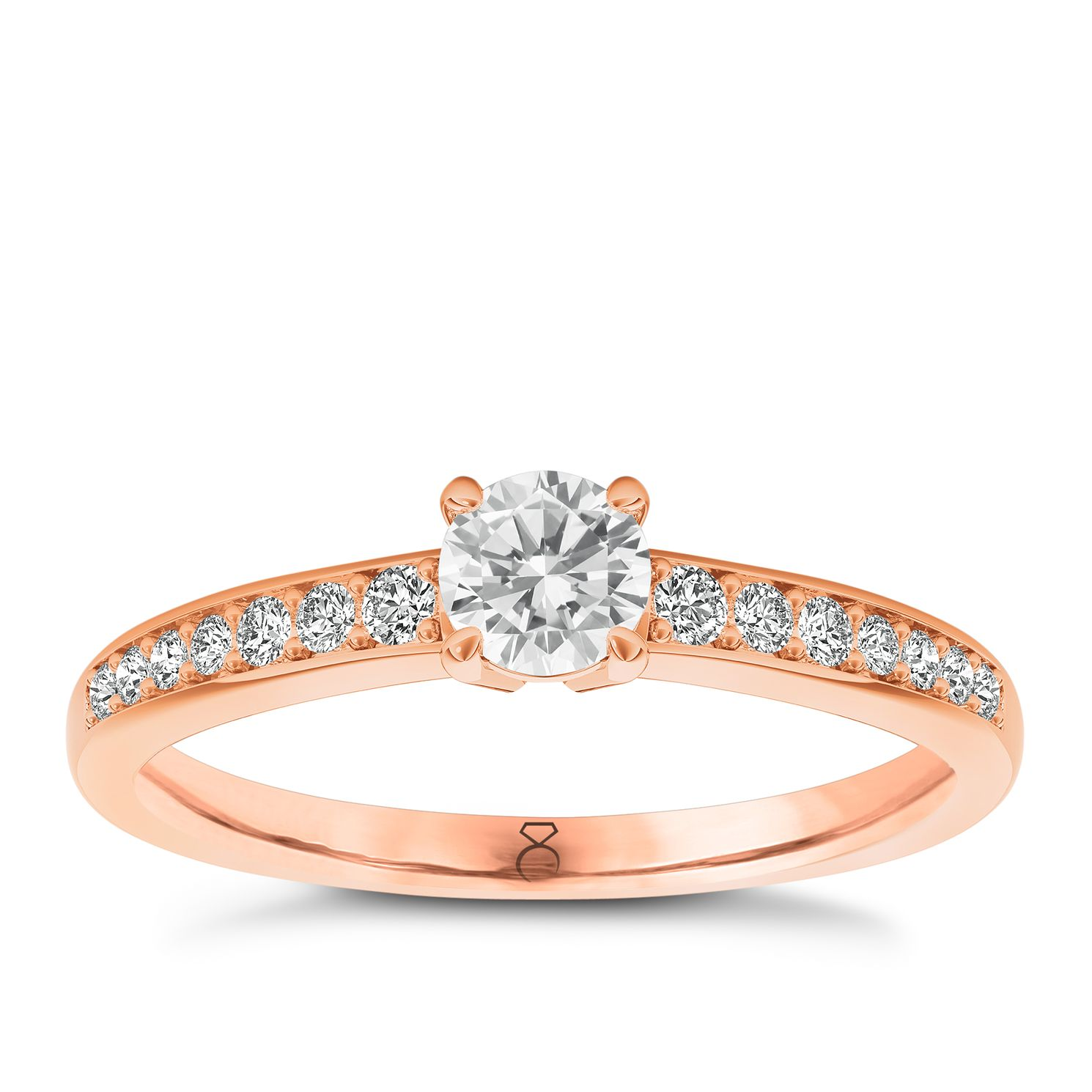 The Diamond Story 18ct Rose Gold 0.66ct Total Diamond Ring - Product number 3454134