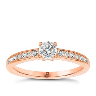 The Diamond Story 18ct rose gold 2/3ct diamond ring - Product number 3454134