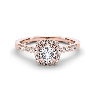 The Diamond Story 18ct rose gold 2/3ct diamond halo ring - Product number 3454630
