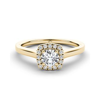 42175c4da58 The Diamond Story 18ct yellow gold 1 3ct diamond halo ring - Product number  3458598