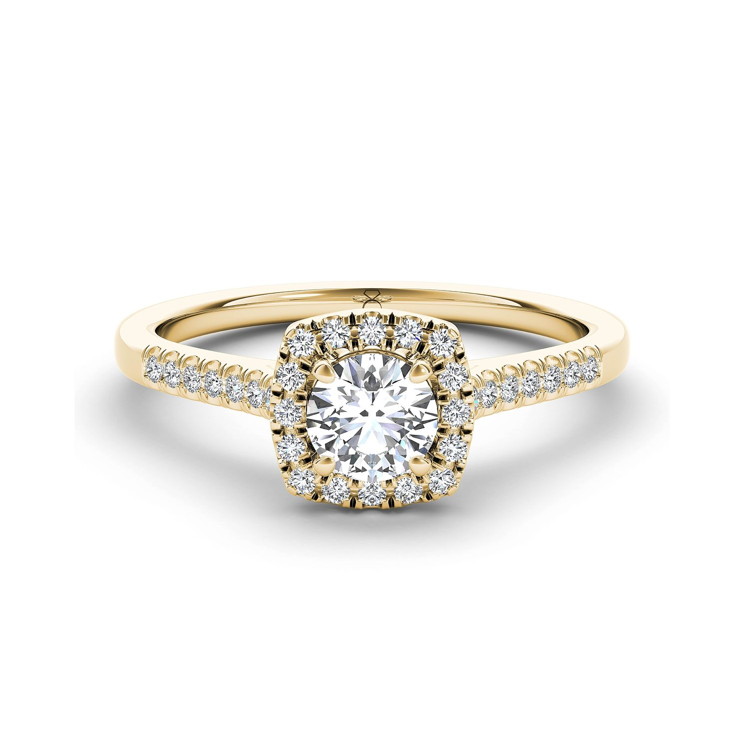 The Diamond Story 18ct Yellow Gold 2/3ct Diamond Halo Ring - Product number 3458938