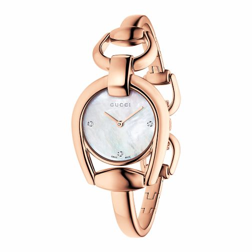 Gucci Horsebit Rose Gold Tone Bracelet Watch - Product number 3460851