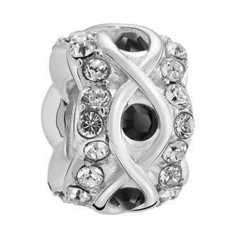 Chamilia Luxe Jet Crystal Sterling Silver Charm - Product number 3465357