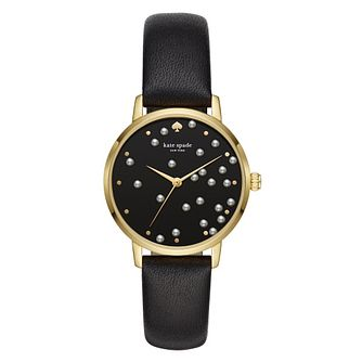 Kate Spade Metro Yellow Gold Plated Black Dial Watch - Product number 3466477
