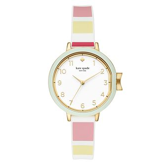Kate Spade Park Row Ladies' Yellow Gold Plated Strap Watch - Product number 3466612