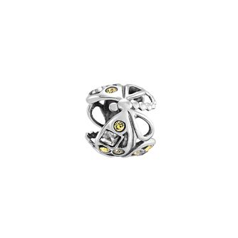 Chamilia dragonfly yellow crystal sterling silver charm - Product number 3473252