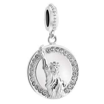 Chamilia Silver & Swarovski Crystal Lady Liberty Charm - Product number 3473716