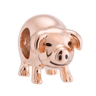Chamilia Silver & Rose Gold Plated Piggy Bank Charm - Product number 3474119