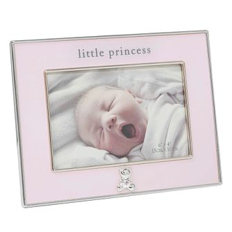 "Bambino By Juliana Silver Tone 4""x6"" Princess Photo Frame - Product number 3474739"