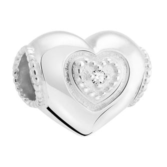 Chamilia Sterling Silver & Diamond Mum Heart Charm - Product number 3476464